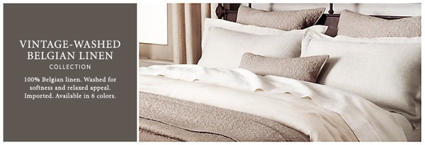 new linen bedding at restoration hardware - bedding chic