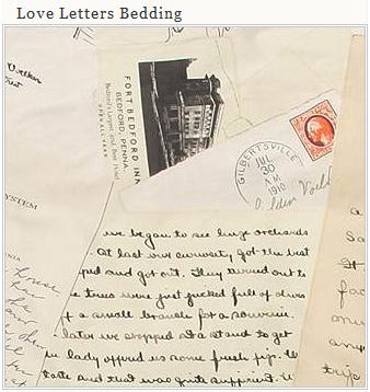 Love Letters Duvet Cover Bedding Chic